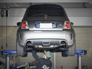 ABARTH595×THREEHUNDRED×AKRAPOVIC。
